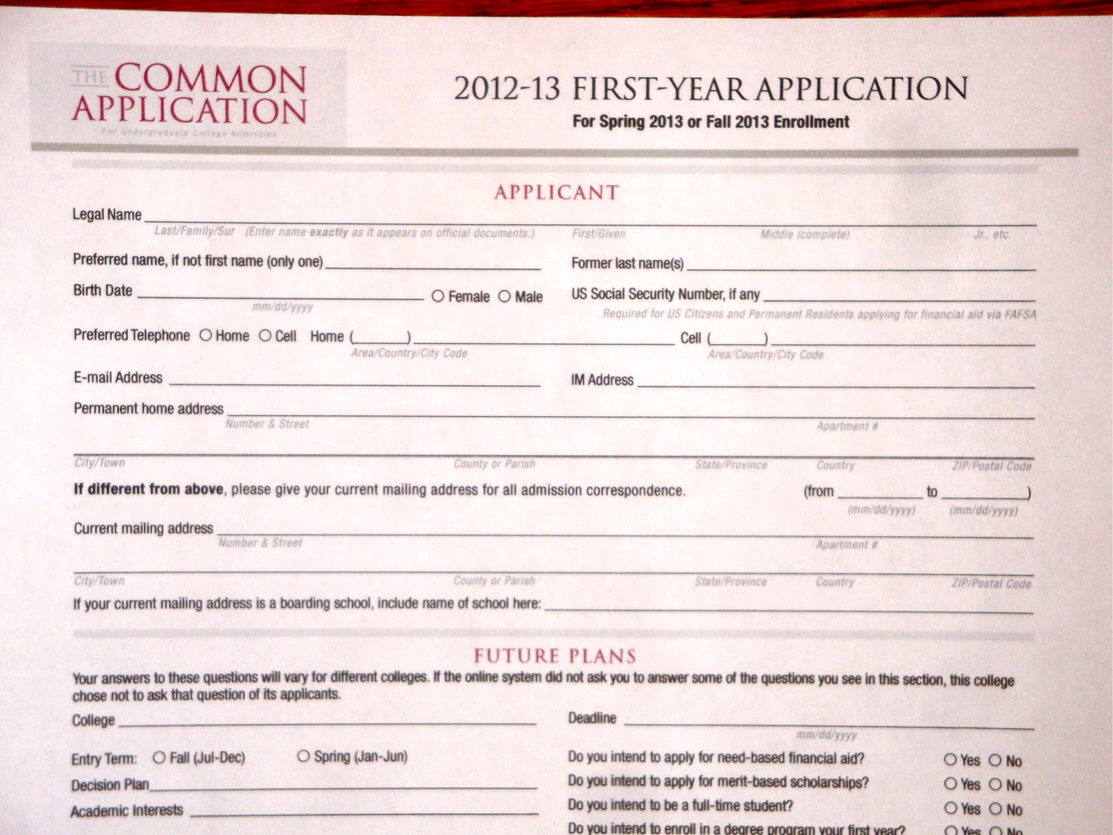 College Application.....?