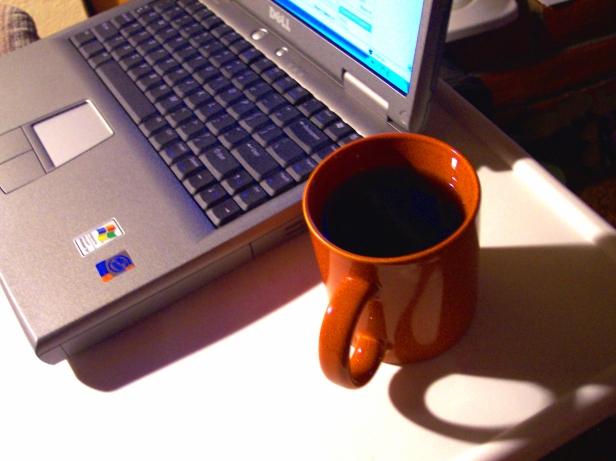 Photo laptop & coffee