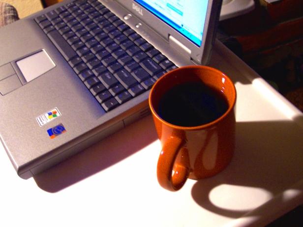 Photo laptop & coffee
